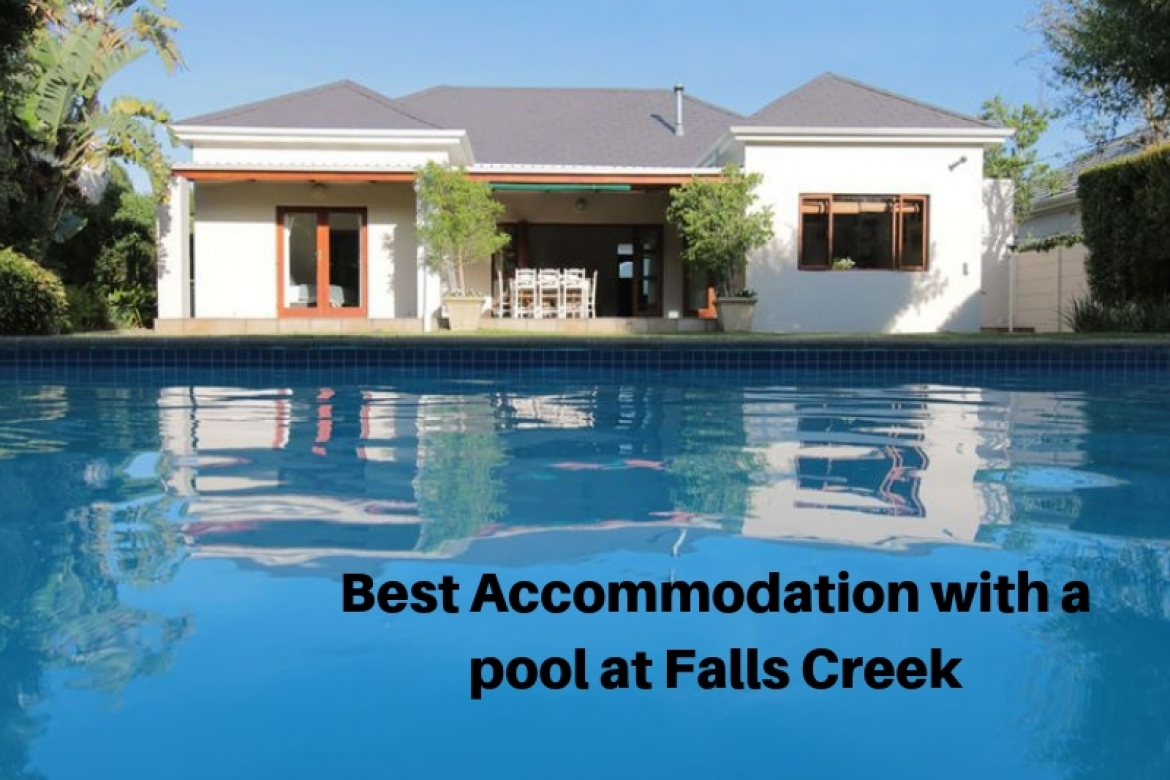 Accommodation with a pool
